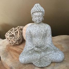 Bouddha de la médiation en pierre 12 cm