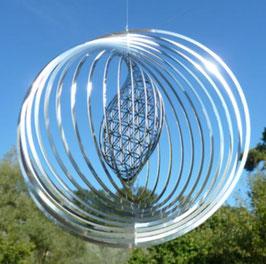 Mobile Fleur de vie  Feng Shui Spirale - métal