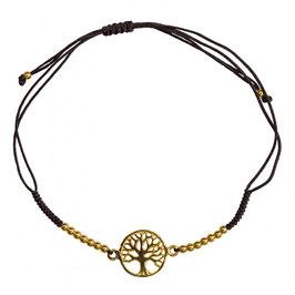 Bracelet ARBRE de vie argent  plaqué or - 1,2 cm