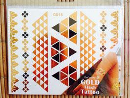 TATOUAGES DORE  EPHEMERES - bracelets dorés/noirs pyramide
