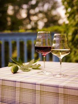 Calix verre à vin rouge -  fleur de vie nature's design