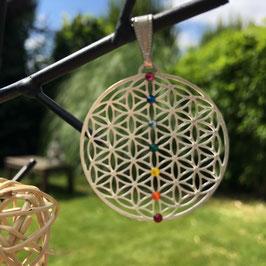 Pendentif de la Fleur de vie  - Chakra en ligne - 30 mm