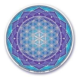 Autocollant - Fleur de vie - Lotus -Turquoise