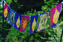 Drapeaux Thai style Bouddha Mandala  sur corde