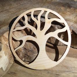 ARBRE DE VIE bois 5 cm ROND en PIN (clair) - détouré