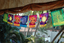 Drapeaux Cosmic Harmony sur corde