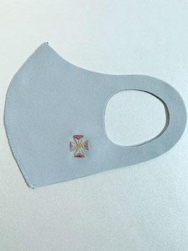 お守りマスク(こま 紫)ーK03