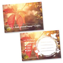 """Glücksnotiz-Blättchen® """"Herbst"""" aus der Seasons-Edition"""
