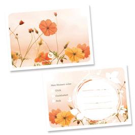 """Glücksnotiz-Blättchen """"Summer-Flowers"""""""