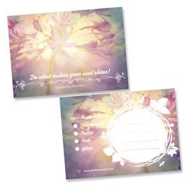 "Glücksnotiz-Blättchen® ""Soul Shine"""