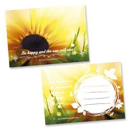 """Glücksnotiz-Blättchen® """"Sunflower"""""""
