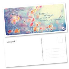 "Postkarte ""Change"""