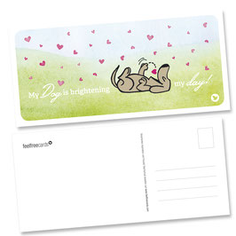"Postkarte ""Dog Love"""