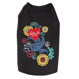 East Side Collection Flower Child Tank Large Black*