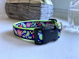 Up Country Dog Collar Flowers green*
