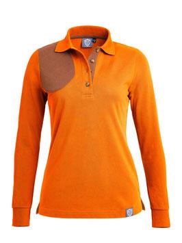 "orange / braun ""Maisjagd"" - damen - langarm"