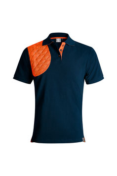 NAVY / ORANGE - HERREN - KURZARM