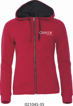 Hoody pour Femme 021045, anthracite et rouge