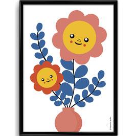 "AFFICHE ""Pink Bouquet"""