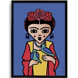 """AFFICHE """"Blue Frida"""""""