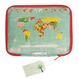 "HOUSSE TABLETTE ""Carte du Monde"""