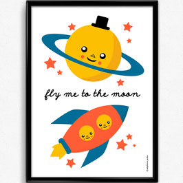 """AFFICHE """"Fly Me to the Moon"""""""