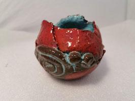 """Sfeerlicht rood / turquoise - dit kun je bestellen in de categorie """"Potten"""""""