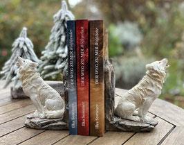 Limitierte Bücherbox mit Wolfs-Buchstützen