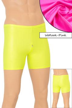 Herren Wetlook Hotpant SRV pink