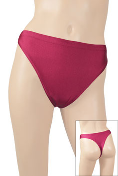 Damen String-Slip bordeaux