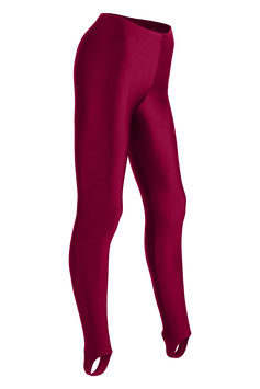 Damen Leggings mit Steg bordeaux
