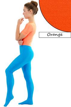Damen Leggings mit Fuß orange