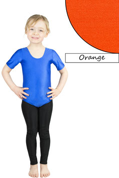 Kinder Gymnastikanzug kurze Ärmel orange