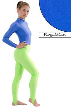 Damen Leggings mit Steg royalblau