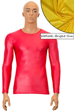Herren Wetlook T-Shirt lange Ärmel bright-sun