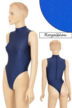 Damen Stringbody RRV+Kragen ohne Ärmel royalblau