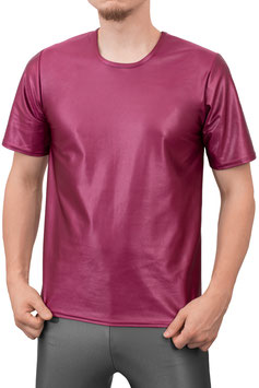 Herren Wetlook T-Shirt Comfort Fit bordeaux