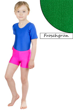 Kinder Kurzradler/ Hotpant froschgrün