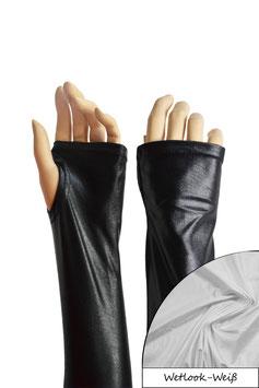 Wetlook fingerlose Handschuhe mit Daumenloch weiß