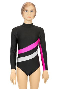 """Kinder Gymnastikanzug """"Emmi"""" schwarz-pink-silber"""