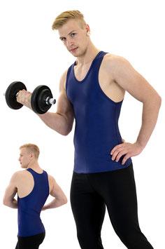 Herren Boxerhemd Slim Fit marine