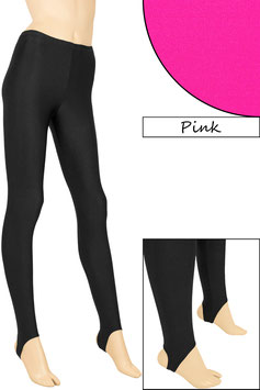 Kinder Leggings mit Steg pink
