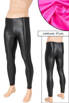 Herren Wetlook Leggings pink