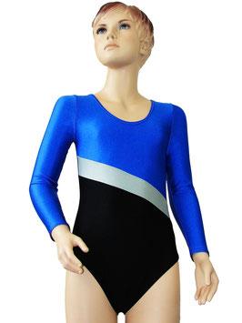 "Kinder Gymnastikanzug ""Bertha"" royalblau-silber-schwarz"