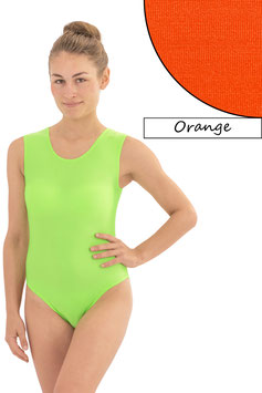 Damen Body ohne Ärmel orange