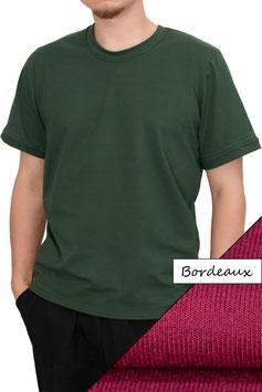 Herren T-Shirt Wide Fit Athleisure bordeaux