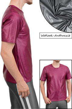 Herren Wetlook T-Shirt Comfort Fit anthrazit
