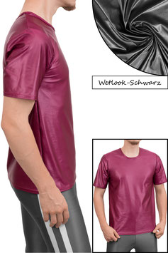 Herren Wetlook T-Shirt Comfort Fit schwarz