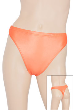 Damen Wetlook String-Slip orange