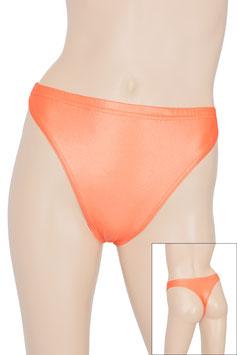 Damen Wetlook String-Slip orange